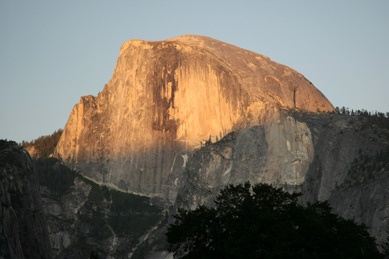 Half Dome at Sunset from the Valley