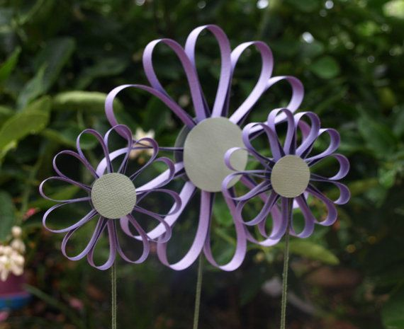 Lilac Purple Lollypop Paper Flower Girls Decor by PulpPetals