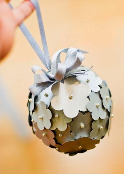 Como fazer decoração com bolas de flores com papel para festa, casamento ou…