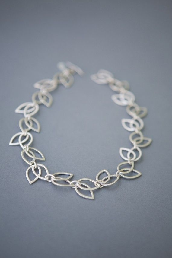 Sterling silver Hollow Tulip Necklace, from AnnaAnderssonJewelry on Etsy