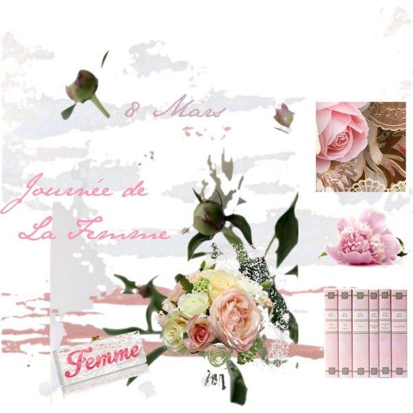 Journée de la Femme by virginie-lo-giudice-parisseaux on Polyvore featuring beauté and Edie Parker