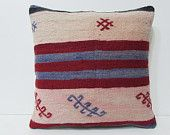 20x20 kilim pillow 20x20 blue red white cream pillow case oversized pillow cover 20x20 pillow cover large cushion cover kilim pillow 24009