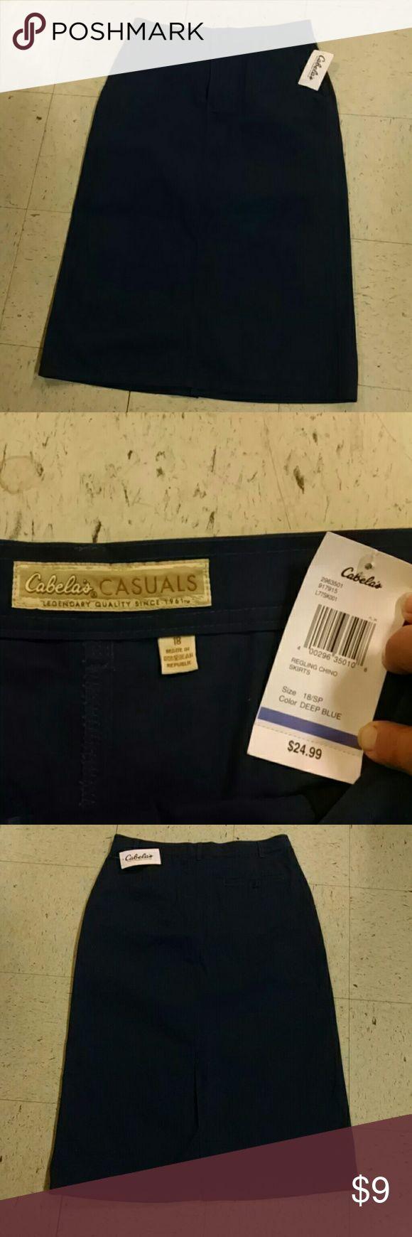 New.. Cabela's Casuals Skirt.. SZ.. 18.. long New.. Cabela's  Casuals Skirt.. SZ.. 18.. long..with tags..this is dark navy blue Cabela's Casuals Skirts Maxi