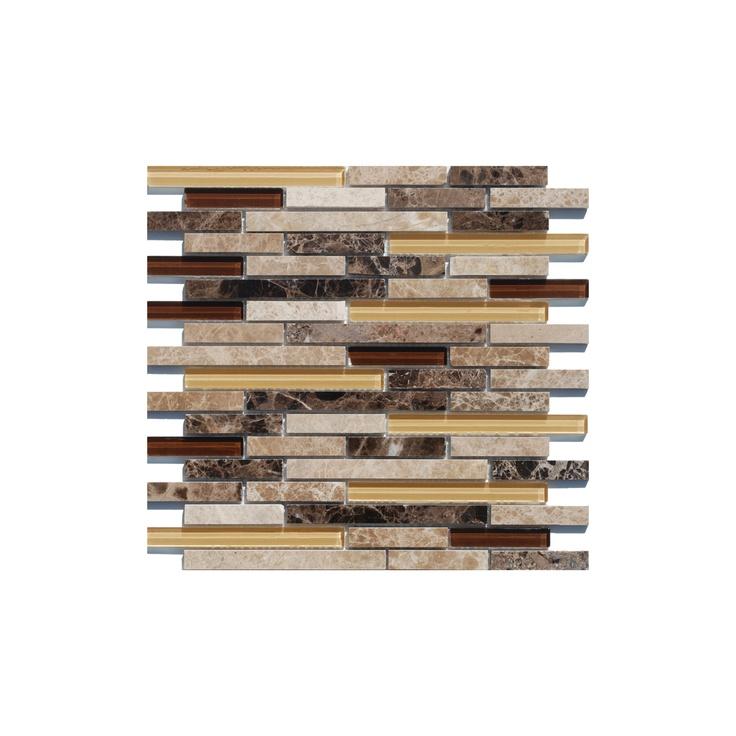 Tesoro 12 X Stone Gl Linear Mosaic Sheet Mix 6mm From Pixie Stix
