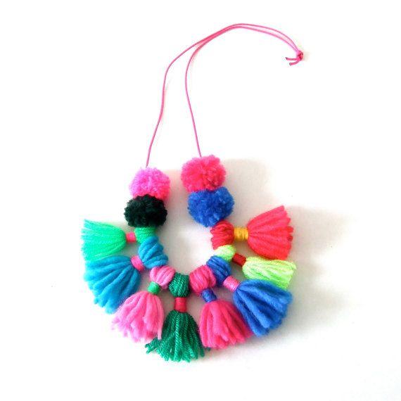 collier de laine par pipapiep sur Etsy