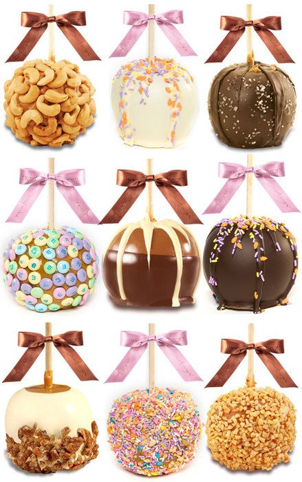 Caramel Apple Ideas.  Would love these in Mini Apple Bites