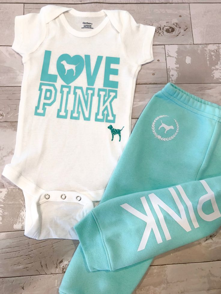 Toddler Baby Girls Love Pink Size 12 months Set