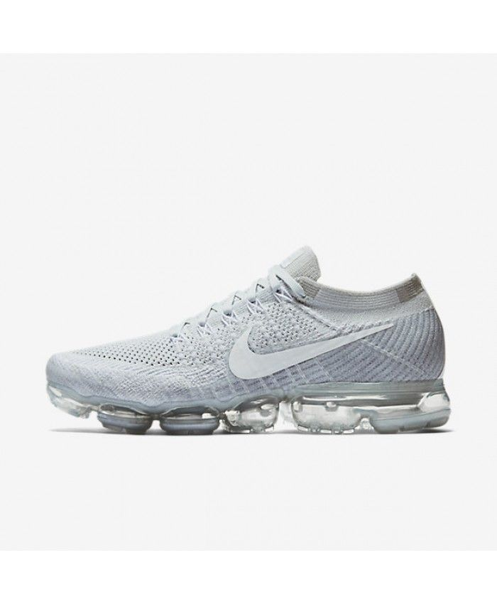 pretty nice 1128a 77281 Nike Air VaporMax Flyknit Pure Platinum Wolf Grey White 849558-004