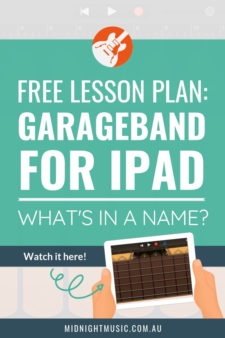 Free Lesson Plan: GarageBand for iPad – What's in a Name?