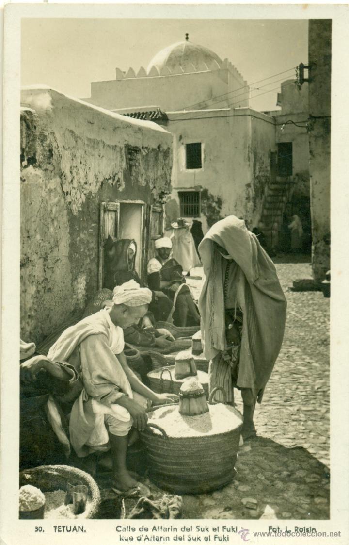 Tetuán (Marruecos), Calle de Attarin en Sul el Foki. Hacia 1950. Foto Roisin. 12 €