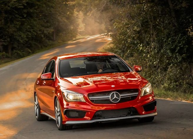 2014 Mercedes-Benz CLA 45 AMG four door coupe