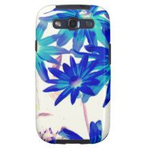 Blue flowers galaxy SIII covers