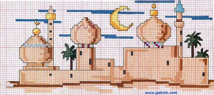 Вышивка мечети схемы вышивки
