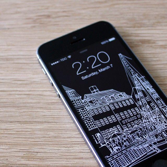 iPhone Background / Nyhavn - Copenhagen - Denmark.
