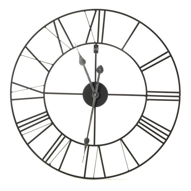 Horloge murale 60cm de diamètre Noir - Myron - Décoration murale - Affiches et déco murale - Salon et salle à manger - Décoration d'intérieur - Alinéa