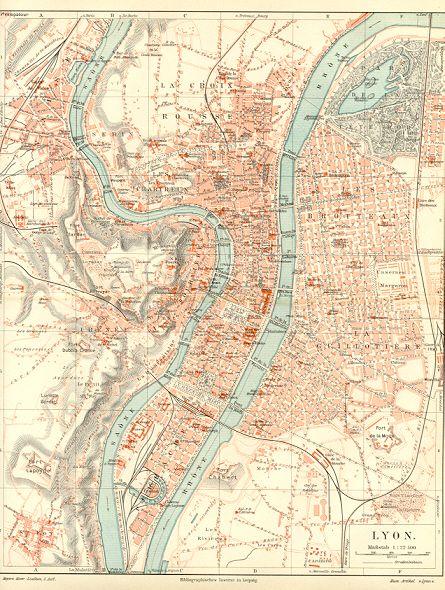 Vintage Lyon map