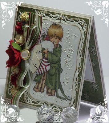handmade card, Christmas, Hobby House Topper, Mo Manning
