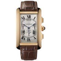 Cartier Tank Americaine XL Chronographe Or rose W2609356