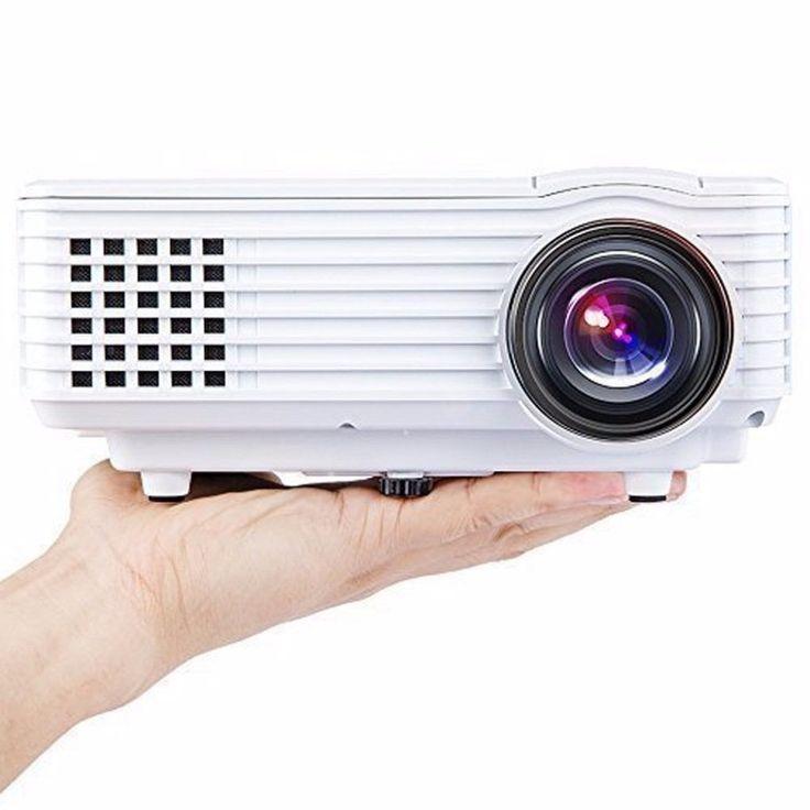 RD805 Portable Full HD 1080P Home Theater Projector Mini LED Video Proyector Projeksiyon TV EU AV USB VGA HDMI USB Beamer