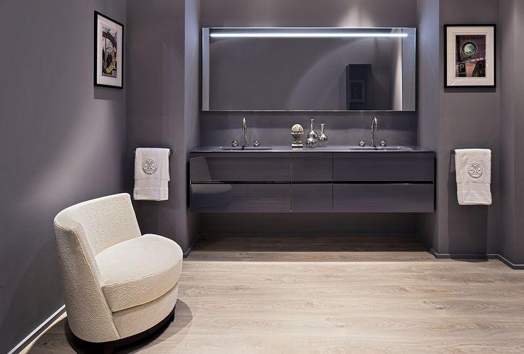 Crystal Collection at the Salone Internazionale del Bagno booth, designed by Massimiliano Raggi.