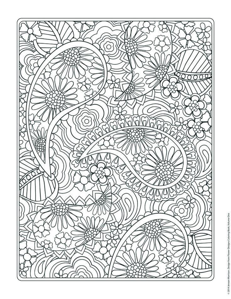 Galerry flower designs coloring book jenean morrison