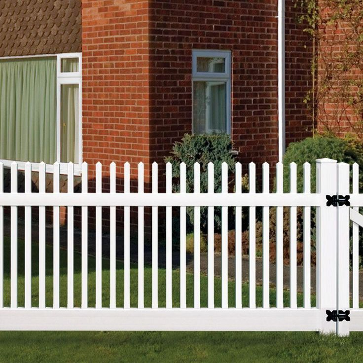 w white vinyl unassembled fence the home depot