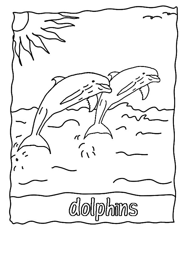Winter and hope the dolphin coloring pages ~ 17+ best images about Letter A, B, C, D on Pinterest ...