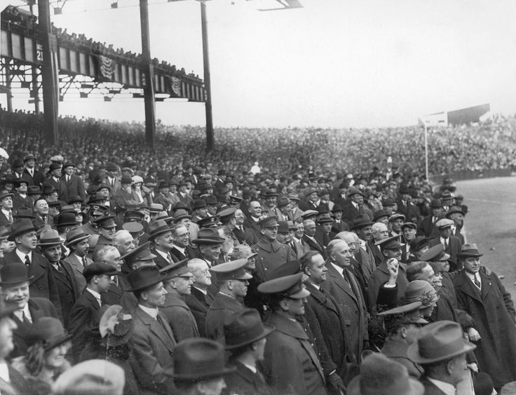 Governor Alfred E. Smith throws out the first pitch at Yankee Stadium prior to the game between the Boston Red Sox and the New York Yankees on April 19, 1923 in the Bronx.