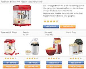 Vergleichstabelle unserer Testsieger – Popcornmaschine › popcornmaschine-zuckerwattemaschine.com