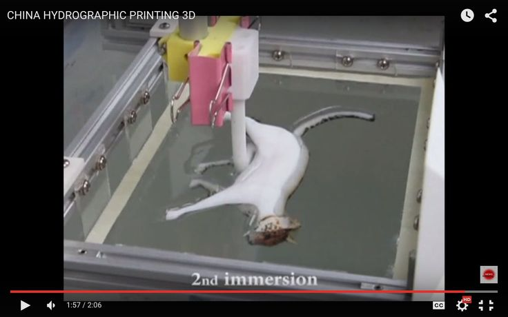 3d printer in action hydrographic printing for 3D objects