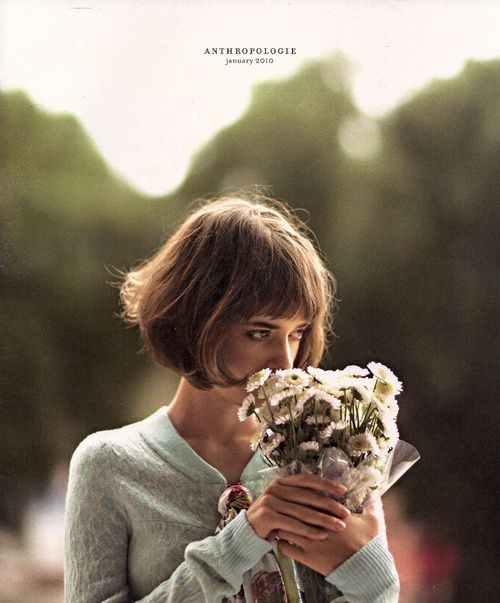 Anthropologie Ad- but this could be a pretty shot with the bride or bridesmaids