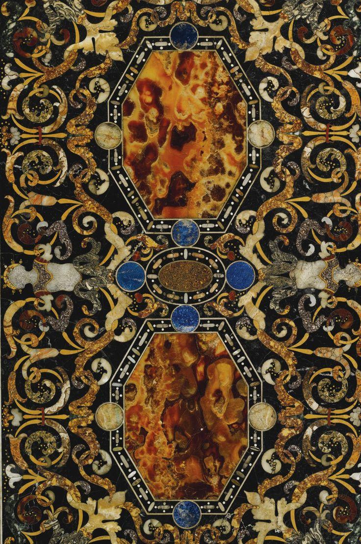 An Italian antique marble and pietre dure inlaid top Rome, last quarter 16th century