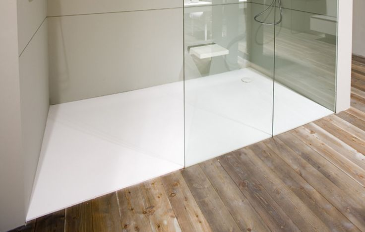 Shower trays from Corian