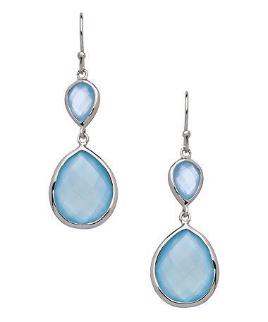 Seraphina Blue Chalcedony Double Drop Earrings #maxandchloe