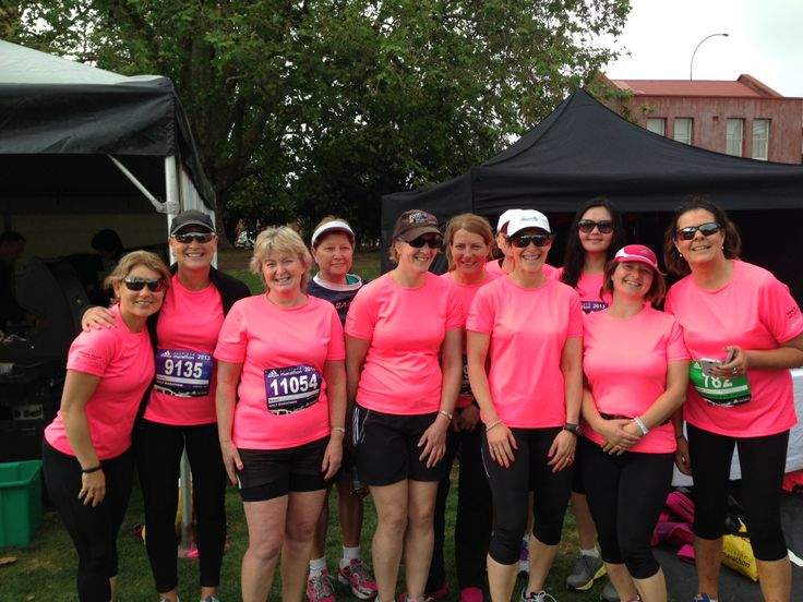 Fitness Fix walking group at the start of the Auckland 1/2 marathon 2013... go the pink girls!