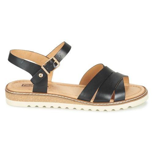 C'est l'un des succès de l'été chez Pikolinos et on comprend pourquoi ! Dans un coloris noir, cette sandale a tout bon. Ses brides en  et sa semelle en synthétique sont les garantes de sa qualité de confection.    Et confortable avec ça ! - Couleur : Noir - Chaussures Femme 87,99 €