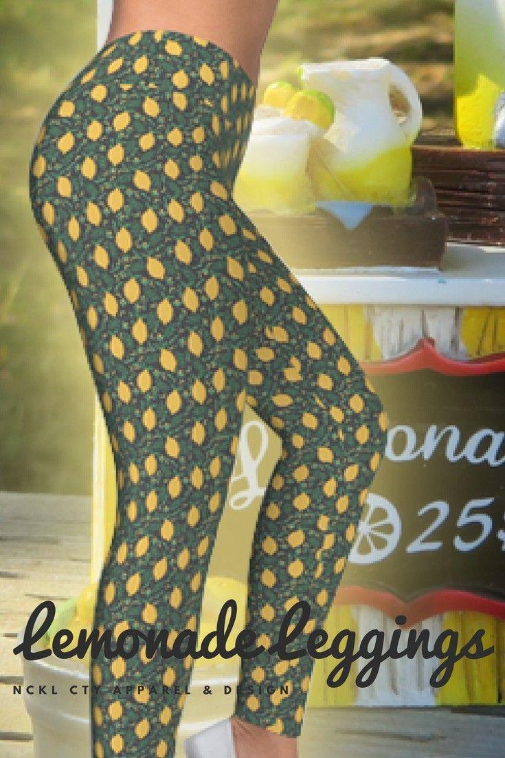 "Lemonade Leggings - Step right up!  Get your freshly-squeezed ""Lemonade Leggings"" for summer!  This lemon print is sure to quench your style's thirst!  Get some today! #lemonadeleggings #lemons #funyogaleggings #fitnessfashion #workoutwear #lemonleggings #lemonade"