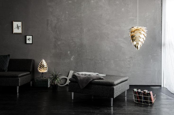 Gouden lampen: we like!   www.gewoonstijl.nl