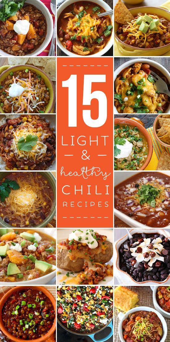 15 Light and Healthy Chili Recipes | Skinnytaste.com | Bloglovin'