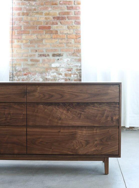 New Solid Walnut Dresser with Walnut Drawers  —
