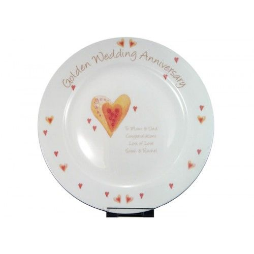 Personalised Golden Wedding Anniversary Plate from .personalisedweddinggifts.co.uk  ONLY  sc 1 st  Pinterest & 54 best Personalised China Plates images on Pinterest | China plates ...