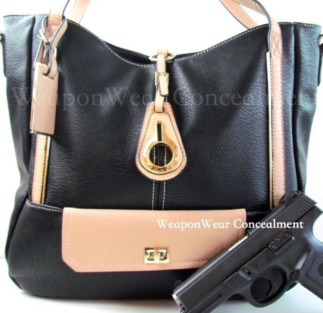 Concealment Purse New Style BLACK Concealed Carry CCW Holster Gun Tote Purse #47 #Roma #MODERNLADIESCCWSHOULDERBAGCrossbodyTote