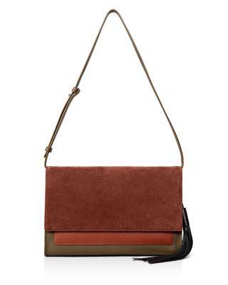 ALLSAINTS Large Belle Convertible Clutch. #allsaints #bags #shoulder bags #clutch #suede #hand bags #