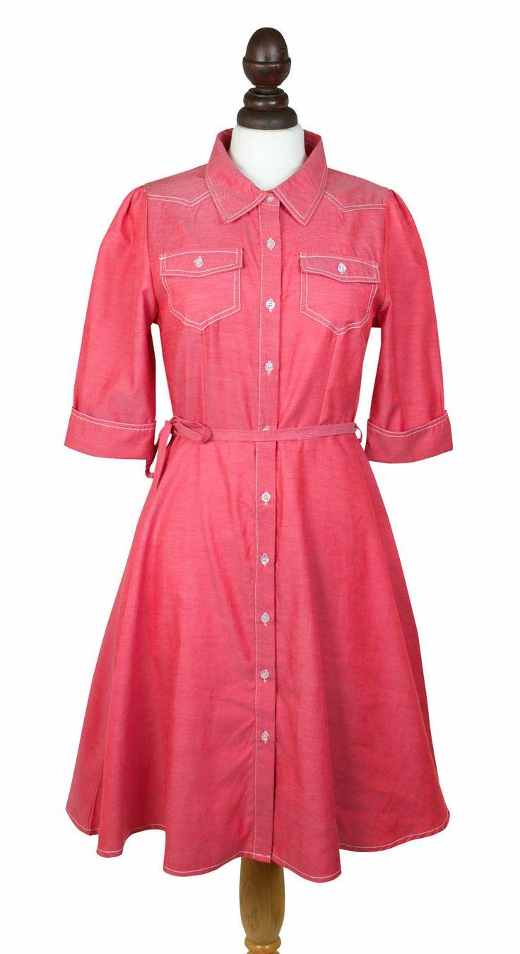 Wyoming Dress. 1940's inspired western shirt dress.