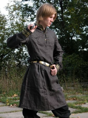 A Medieval Tunic And Overcoat Befitting A Nobleman