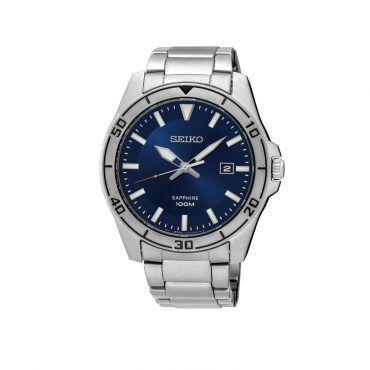 SGEH61P1 Ανδρικό σπορ ρολόι SEIKO με μπλε καντράν, στεφάνη & ανοξείδωτο ατσάλινο μπρασελέ | SEIKO ρολόγια ΤΣΑΛΔΑΡΗΣ στο Χαλάνδρι #Seiko #ημερομηνια #μπλε #μπρασελε #ρολοι