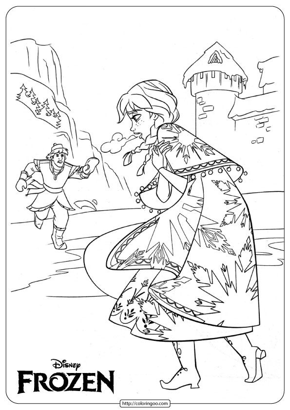 Frozen Anna And Kristoff Coloring Disney Coloring Pages Elsa Coloring Pages Disney Coloring Pages Printables