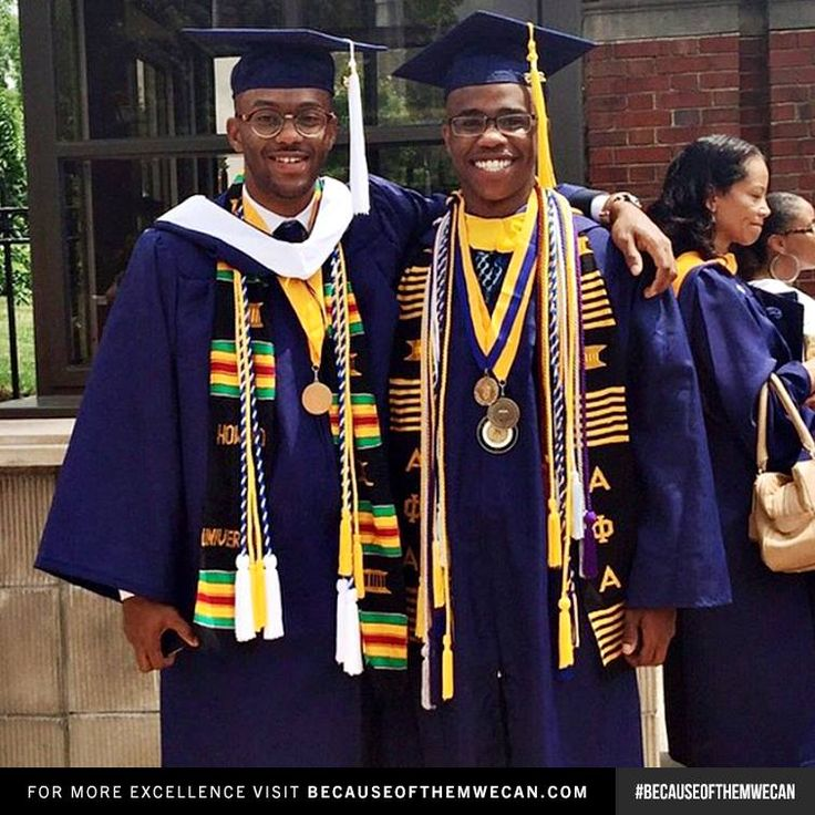 """""""We both graduated Summa Cum Laude (3.91 and 3.95 respectively) from Howard University. We proclaimed to one another that we wanted to be a lawyer and a doctor our freshman year; and now we're headed to graduate school - Howard Law and Harvard Med - in the Fall - Friends that grind together shine together"""" - Tyrone and Nelson (Howard University Commencement 2015)"""