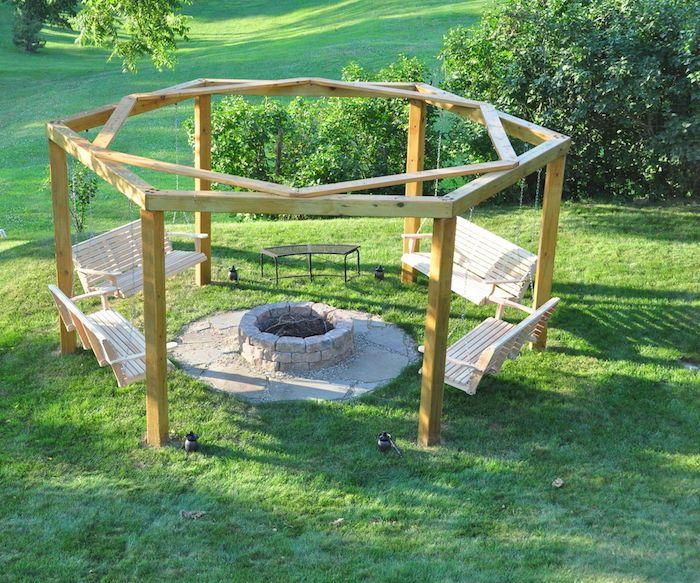 Schön Ein Platz Für Ausflüge Mit Vier Bequeme Schaukel Schaukelgestell Aus Holz