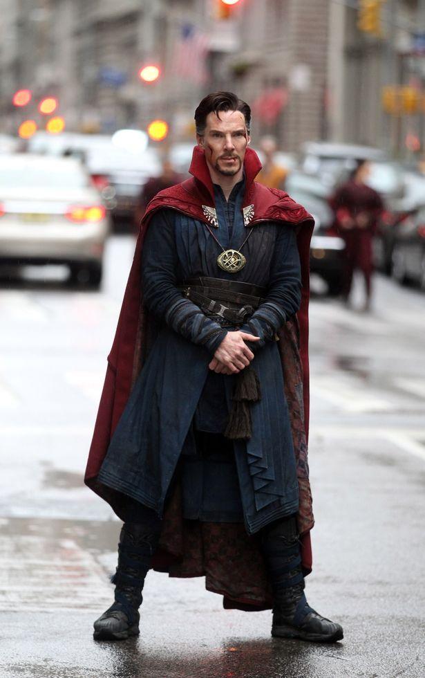 """Benedict Cumberbatch filming Marvel Picture's """"Dr. Strange"""""""